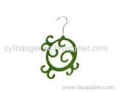 2016 novelty design teal flocked scarf hanger non-slip made in china