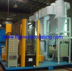 horizontal powder coating line for the aluminum profile