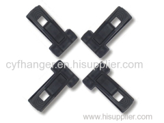 Black flocked plastic pegs with T shape made by ABS plastic non-slip