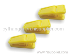 ABS plastic spring clips yellow flocked non-slip hanger attachments