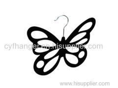Black velvet stylish butterfly scarf hanger non-slip space saver