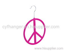 Red flocked non-slip scarf hanger round shape made by ABS plastic