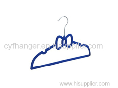 Blue velvet butterfly with ident kids hanger non-slip made by ABS plastic