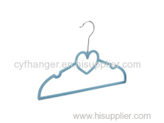 33CM blue velvet Love with ident design kids hanger non-slip space saver