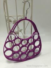 Stylish bag design dark red flocked scarf hanger non-slip space saver