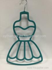 Stylish tee dress design turquoise velvet scarf hanger non-slip space saver