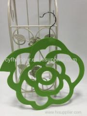 ABS plastic aqua velvet stylish flower design scarf hanger non-slip space saver