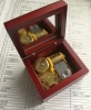 WINE WIND UP WOODEN MUSIC BOXES