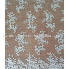 Gorgeous Bridal Floral Pattern Lace Fabric(W9017)