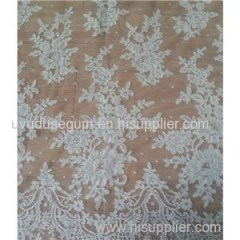 Embroidery Wedding Gown Lace Fabric (W9008)