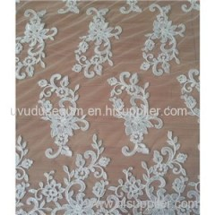 W9004 White Bridal Lace Fabric With Thread (W9004)