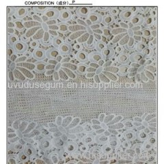 Polyester Cheap Heavy Embroidered Lace Fabric (S8092)