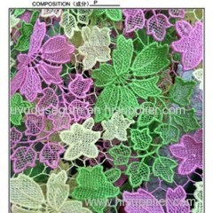 Multicolor & Guipure Thin Style Polyester Water Soluble Lace Fabric (S8052)