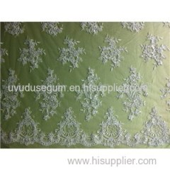 W9029 Gorgeous Sequins White Bridal Lace Fabric (W9029)