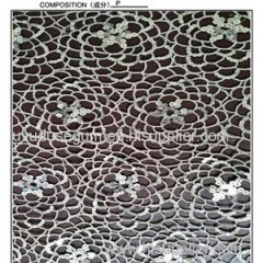Off White Roses Netting Lace Fabric (S8047)