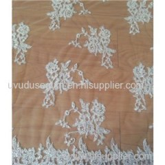 W9007 Floral Designs Bridal Lace Fabric (W9007)
