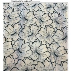 Wholesales Lace Fabric 100% Polyester Embroidery Design Flower Style(S8024)