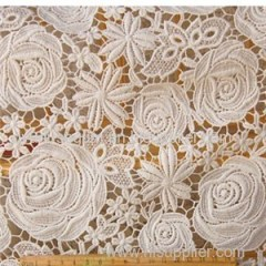 S8016 Wholesale Luxury Guipure Chemical Lace Fabric(S8016)