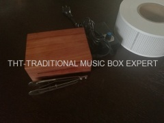 Rose Wood 30 Note Paper Strip Wooden Musical Box