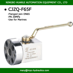 high pressure flange marine valve