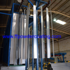 アルミプロファイルの垂直パウダーコーティング工場