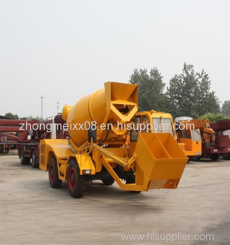 2.5 cbm self loading truck concrete mixers