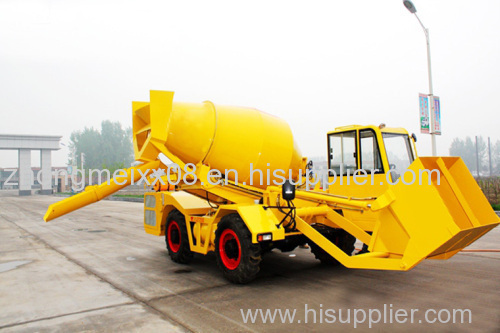 1cbm Self propelled concrete mixing truck