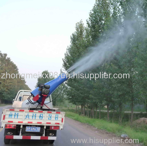 Vehicular mist sprayer for urban landscaping/wooden