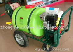 Agricultural tractor pesticide sprayer