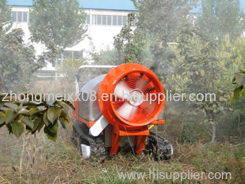 Agriculture using air-blowing sprayer