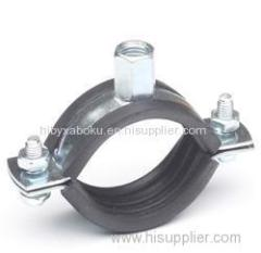 M8 M10 Pipe Clamp With Rubber