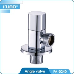 Polished Chrome Plated Brass Angle Valve with Filter