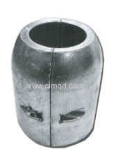 Anode for shaft in zinc + al