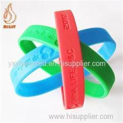 Debossed Rubber Wrist Band For Promotion