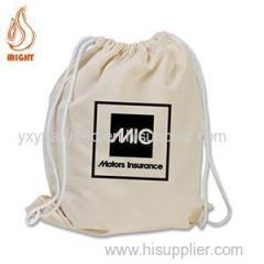 Custom Logo Cotton Draw String Gym Bag