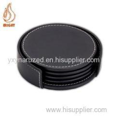 Good Quality Custom Promotion Leather Coaster