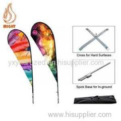 Printing Flying Teardrop Banner Flags For Promotion