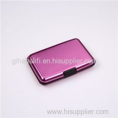 Aluminum Short Card Wallet With RFID Protection