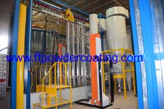 powder coating chamber with mono cyclone