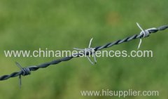BWG12 wire diameter galvanized barbed wire