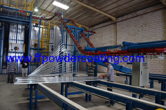 vertical powder coating systems