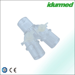 Y piece connectors with covers