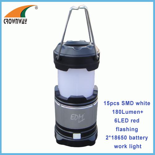 SMD high power work light red flashing warning camping lantern USB plug for mobile recharging 18650 battery work light