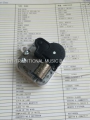 18 Note Pull Cord Musical Mechanism