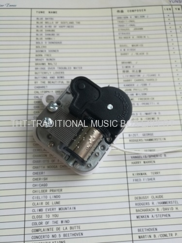 18 NOTE PULL STRING MUSIC BOX MECHANISM