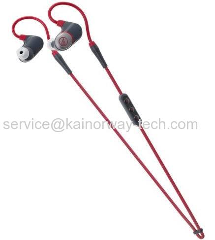 Audio-Technica ATH-Sport4 Bluetooth Wireless Sonicsport Earphones Red