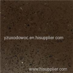 Spark Brown Artificial Engineered Vein Quartz Stone