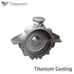 Titanium Casting titanium pump casing Grade C2/3 with HIP
