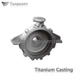 Titanium Casting titanium pump casing Grade C2/3 with HIP