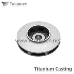 Titanium alloy investment Casting Precision casting